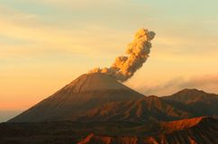Sunrise volcanos Semeru and Bromo mount in East Java. Indonesia, Southeast Asia stock image