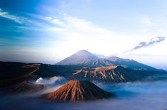 Volcanos Mount Semeru and Bromo in East Java. Indonesia Southeast Asia royalty free stock photography