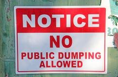 Keine Öffentlichkeit, die erlaubtes Zeichen entleert lizenzfreie stockfotos