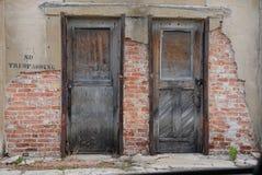 Keine übertretenden Türen Lizenzfreies Stockbild