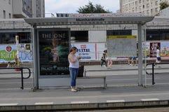 KEINE ALLGEMEINE BUSVERBINDUNG UND TRAM Lizenzfreies Stockbild