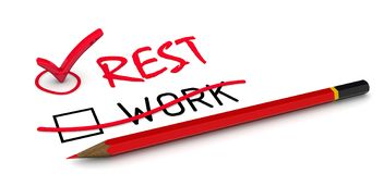 Keine Arbeit ohne Rest! lizenzfreie abbildung
