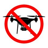 Keine Brummenzonen-Zeichenflüge mit dem Brummen verboten vektor abbildung