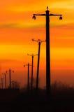 Keine Drähte auf Sonnenuntergang lizenzfreies stockfoto