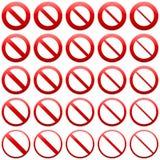 Keine Eintrittszeichen Lizenzfreie Stockbilder