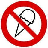 Keine Eiscremeikone Eis verboten Auch im corel abgehobenen Betrag lizenzfreie abbildung