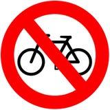 Keine Fahrräder Stockbild