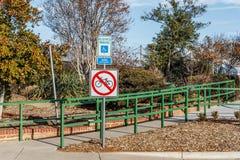 Keine Fahrräder Stockfotografie