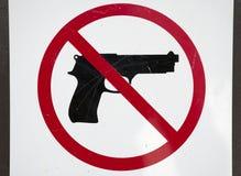 Keine Feuerwaffen Lizenzfreie Stockbilder