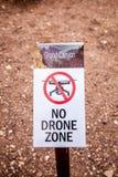 Keine Fliegenzone unterzeichnen herein Grand Canyon Stockfoto