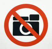 Keine Fotographie??? Stockbild