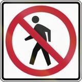 Keine Fußgänger Lizenzfreies Stockfoto