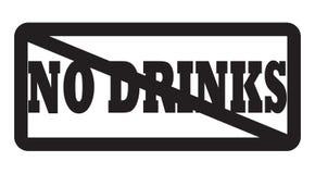 Keine Getränke erlaubt Lizenzfreies Stockfoto