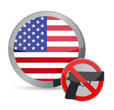 Keine Gewehre erlaubten uns Stockfotos