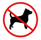 Keine Hunde Stockbild