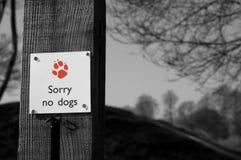 Keine Hunde Lizenzfreies Stockbild