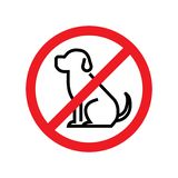 Keine Hunde erlaubt Hundeverbotszeichen stock abbildung