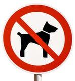 Keine Hunde Zeichen erlaubt Stockfoto