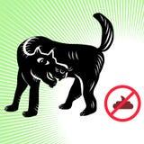 Keine Hundescheiße auf der Straße Lizenzfreies Stockfoto