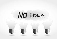 Keine Ideenlampe Stockfotos