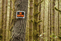 Keine Jagd Stockfotos