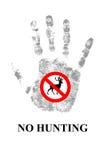 Keine Jagd die Rotwild Lizenzfreie Stockbilder
