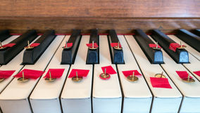 Keine Klaviermusik lizenzfreie stockbilder