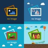 Keine kreativen Vektorillustrationen des Bildes Lizenzfreies Stockbild