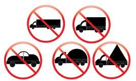 Keine LKW-Ikone - Parkverbot Van Symbol - kein reisendes Fahrzeug - Parkverbot-Automobilikone, lokalisiert Flaches Design vektor abbildung