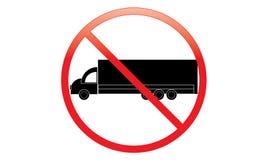 Keine LKW-Ikone - Parkverbot Van Symbol - kein reisendes Fahrzeug - Parkverbot-LKW-Ikone, lokalisiert Flaches Design lizenzfreie abbildung