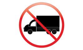 Keine LKW-Ikone - Parkverbot Van Symbol - kein reisendes Fahrzeug - Parkverbot-LKW-Ikone, lokalisiert Flaches Design vektor abbildung