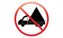 Keine LKW-Ikone - Parkverbot Van Symbol - kein reisendes Fahrzeug - Parkverbot-LKW-Ikone, lokalisiert Flaches Design stock abbildung