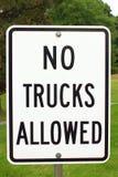 Keine LKWas erlaubt stockfoto