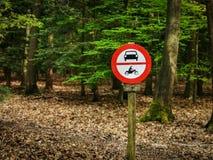 Keine motorisierten Fahrzeuge in der Natur lizenzfreie stockfotos