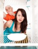 Keine Nahrung im Kühlraum stockfotografie
