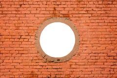 Keine neue Backsteinmauer mit Rundung lizenzfreie stockfotos