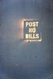 Keine Rechnungen stockfotografie