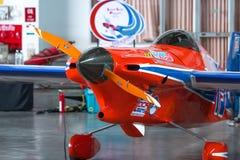 Keine Ryszard Zadow-` s Fläche 15 ` letzte Lap Player-` Flugzeuge modellieren Cassutt III-M dem Weltcup Thailand 2017 in der Wett Stockfoto