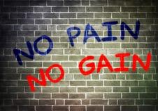 Keine Schmerz keine Verstärkung Lizenzfreie Stockbilder