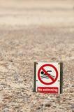 Keine Schwimmen Stockbilder