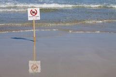 Keine Schwimmen Stockfoto