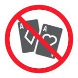 Keine spielende Glyphikone, Verbot und verboten, stock abbildung