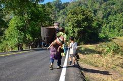 Keine staatliche Autobahn 105, Mae Sot - Mae Sariang Lizenzfreies Stockfoto