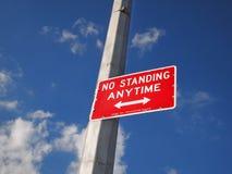 Keine Stellung kennzeichnen zu jeder Zeit Lizenzfreie Stockfotos