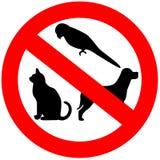 Keine Tiere erlaubt vektor abbildung