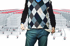 Keine Zeit für das Einkaufen Stockbilder