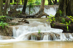Keingkravia waterfall at sangkhlaburi, Kanjanaburi. Thailand Royalty Free Stock Photos