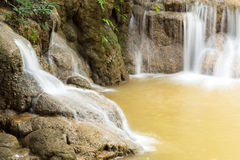 Keingkravia waterfall at sangkhlaburi, Kanjanaburi. Thailand Stock Photos