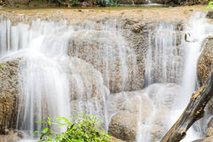 Keingkravia waterfall at sangkhlaburi, Kanjanaburi. Thailand Royalty Free Stock Photo