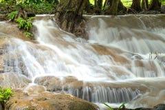 Keingkravia waterfall at sangkhlaburi, Kanjanaburi. Thailand Royalty Free Stock Image